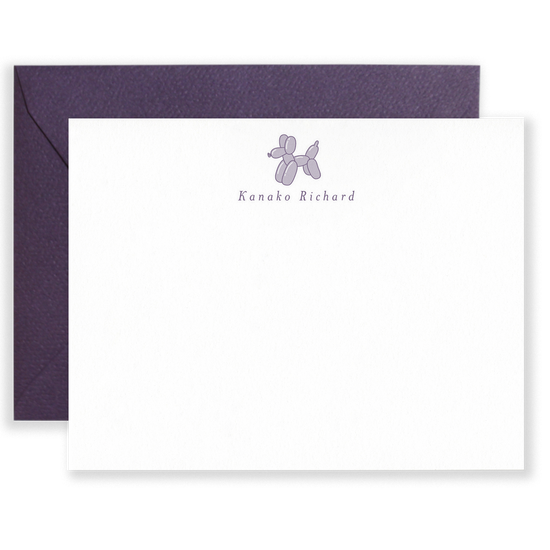 Personalized Balloon Dog Social Stationery