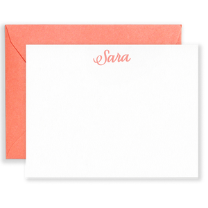 Personalized Signature Social Stationery