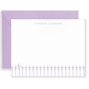 Personalized Ironwork Social Stationery