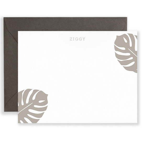 Personalized Monsteras Social Stationery