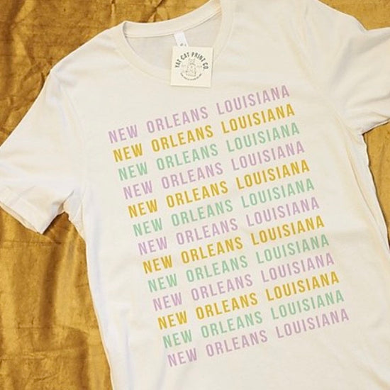 New Orleans Mardi Gras on Repeat Shirt