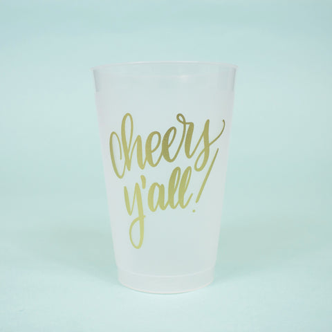 Cheers Y'all Party Cups