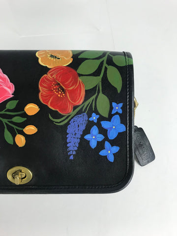 Vintage Hand-Painted Purse - Garden Party