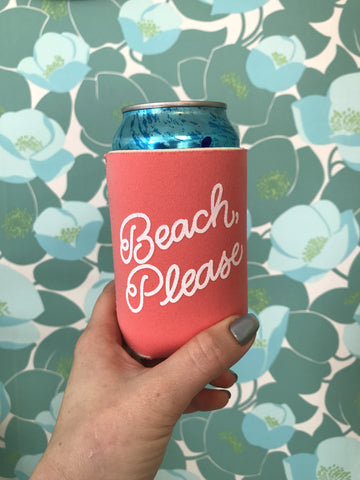 Beach, Please Koozie