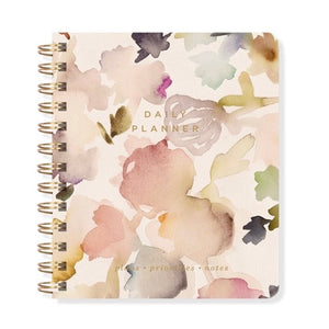 Small Floral Non-Dated Daily Planner