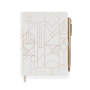 Deco Shapes Journal with Pen