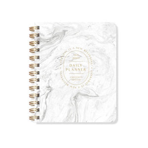 White Marble Daily Planner