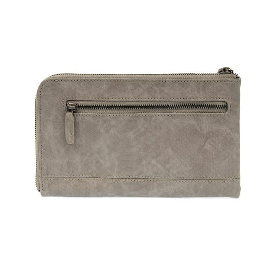 Tina Python Zip Around Wristlet