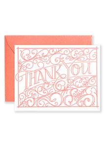 Ironwork Thank You Greeting Card