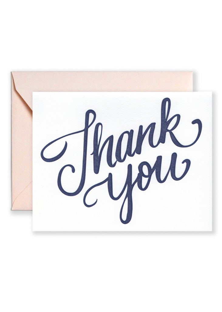 Thank You Script Greeting Card
