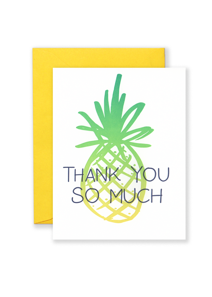 Thank You So Much Pineapple Greeting Card
