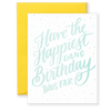 Happiest Dang Birthday Greeting Card