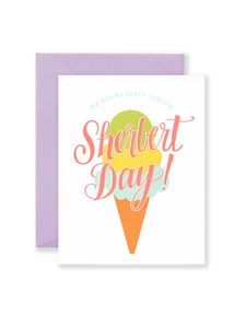 Sherbert Day Greeting Card