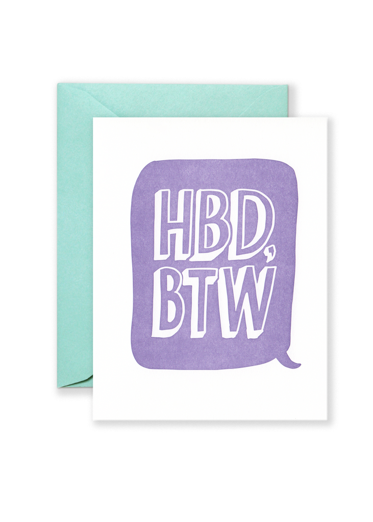 HBD BTW Greeting Card