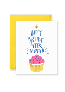 Birthday Month Greeting Card
