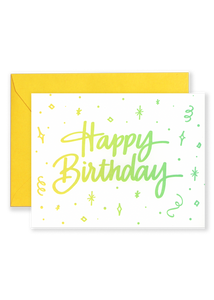 Happy Birthday Ombre Greeting Card