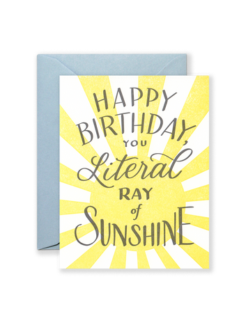 Literal Ray of Sunshine Greeting Card
