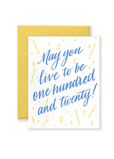 One Hundred & Twenty! Greeting Card