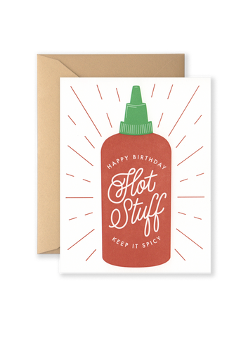 Birthday Hot Stuff Greeting Card
