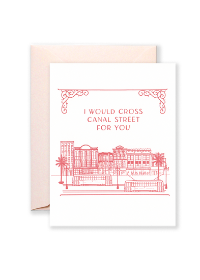 Cross Canal Street Greeting Card