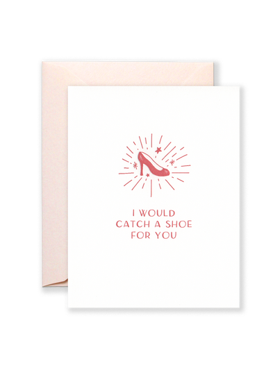 Catch a Shoe Greeting Card