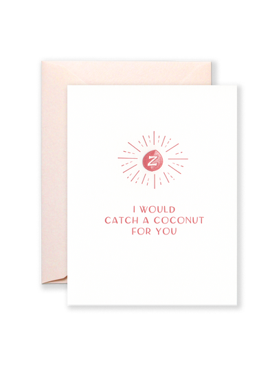 Catch a Coconut Greeting Card