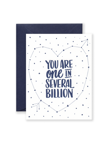 One in Several Billion Greeting Card