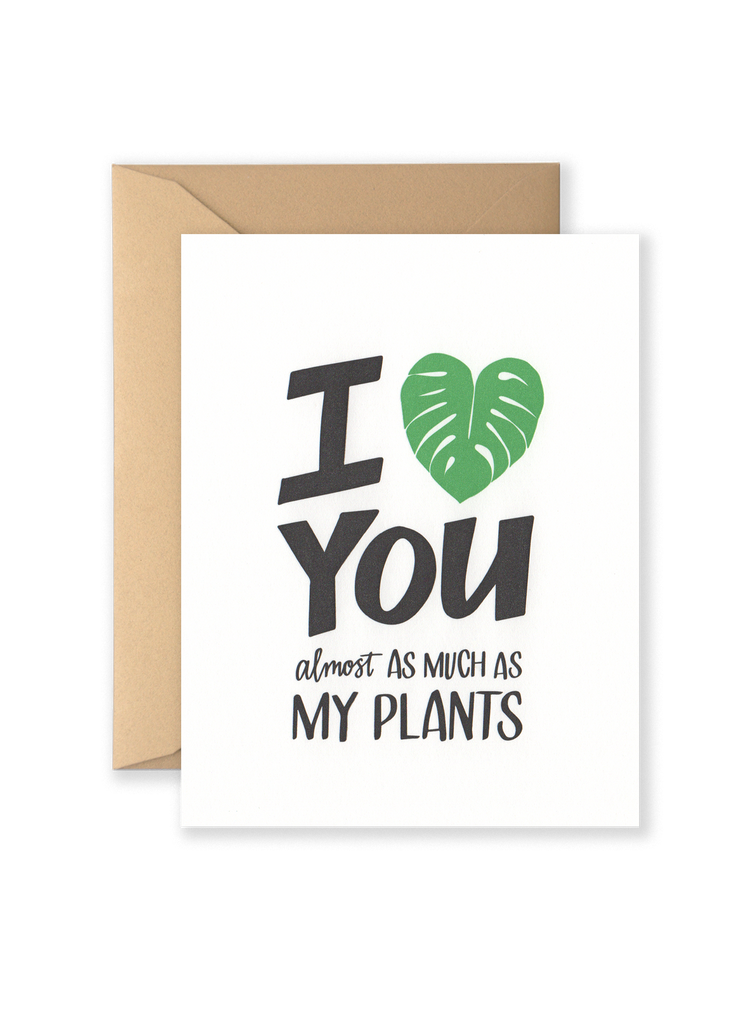 I Heart Plants Greeting Card