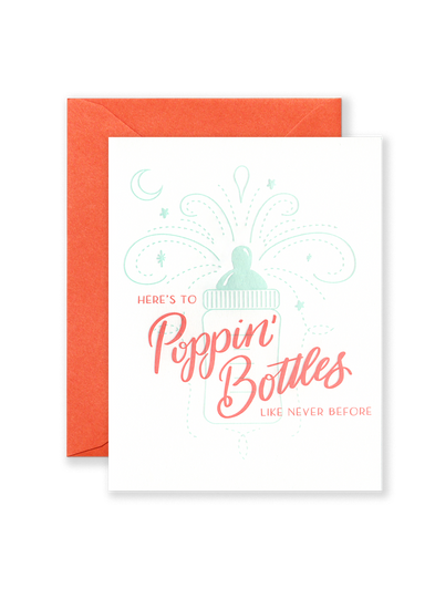 Popping Bottles Greeting Card