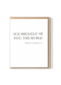 You Brought Me Into This World Boxed Set