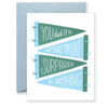 SPECIAL EDITION You Did It! Greeting Card - Green and Blue