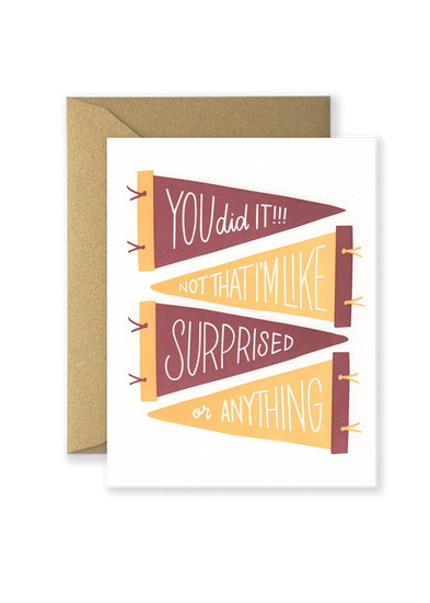 SPECIAL EDITION You Did It! Greeting Card - Maroon and Gold
