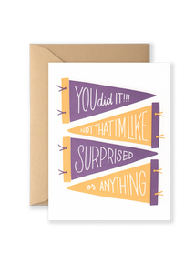 SPECIAL EDITION You Did It! Greeting Card - Purple and Gold