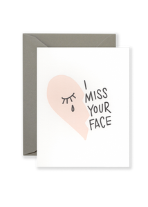 Miss Your Face Greeting Card - Blush