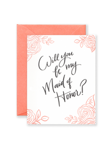 Maid of Honor Greeting Card