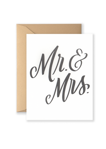 Mr. & Mrs. Greeting Card