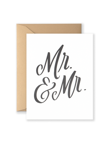 Mr. & Mr. Greeting Card
