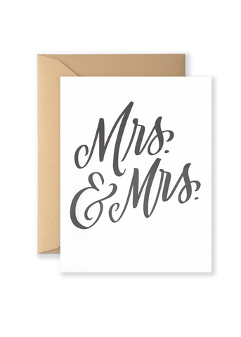 Mrs. & Mrs. Greeting Card