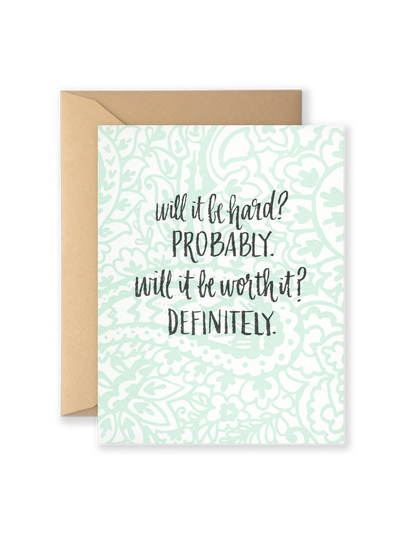 Will It Be Hard? Greeting Card
