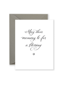 Memory Be a Blessing Card