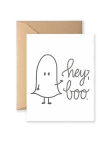 Hey Boo! Greeting Card