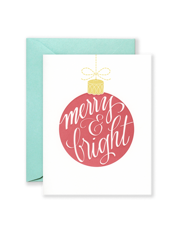 Merry & Bright Holiday Greeting Card