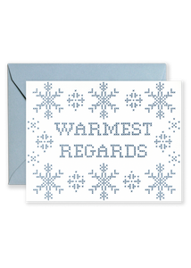 Warmest Regards Holiday Greeting Card