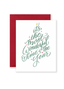 Most Wonderful Time of Year Greeting Card