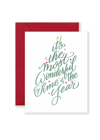 Most Wonderful Time of Year Holiday Greeting Card