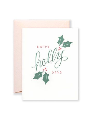 Holly Days Holiday Greeting Card