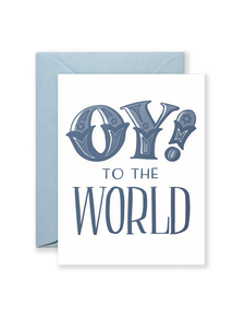 Oy! To the World Greeting Card