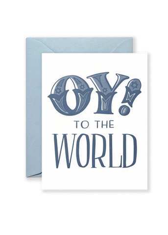 Oy! To the World Holiday Greeting Card