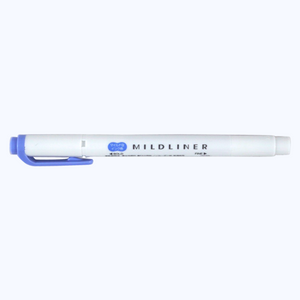 Zebra Mildliner Double Ended Highlighter Dark Blue