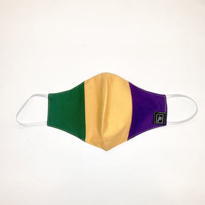 Mardi Gras Tri Color Face Mask